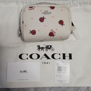Super cute Coach Cosmetic case